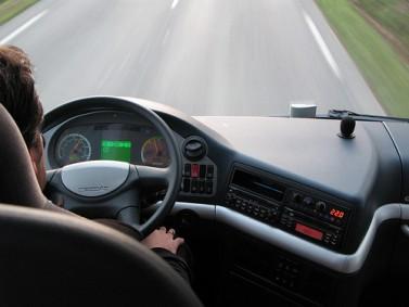 conduite d'une camionnette